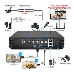Image 2 - Techage 8CH CCTV sistema 720P HDMI AHD DVR CCTV 4 Uds 1,0 MP cámara de seguridad exterior infrarroja 1200 TVL cámara de vigilancia Kit 1TB HDD