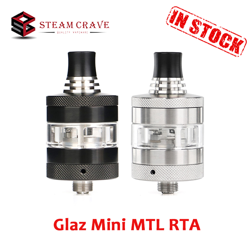 Steam Crave Glaz Mini MTL RTA 23mm Diameter Tank 2ml/5ml E-liquid Capacity Atomizer With 510 Drip Tip Electronic Cigarette Tank