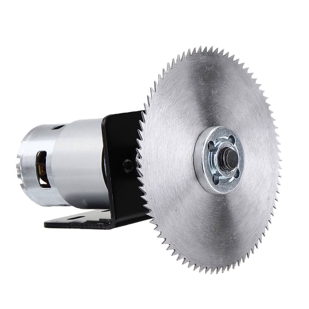 775 Motor Table Saw Kit DC 12V Gear Motor With Mounting Bracket And Saw Blade For Woodworking