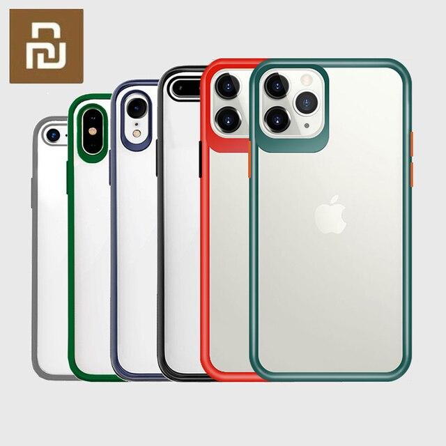 WIZ טלפון מקרה כיסוי שקוף חזרה כיסוי מקרה עדשת הגנה עבור iPhone 11/11 Pro/11 פרו מקס/XS מקס/XS/X/XR/7P/8P/7/8