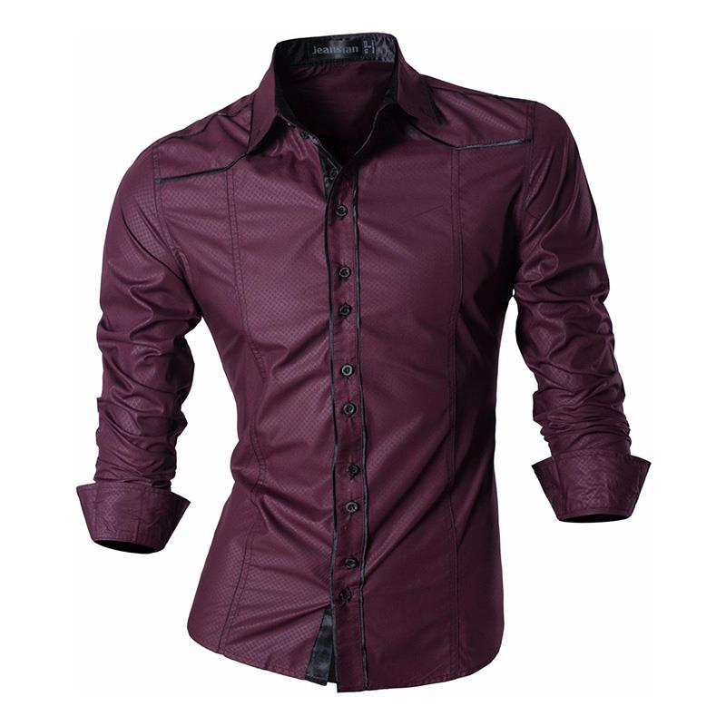 Hbb3f360079764da4ac0c11a79cbcbb77A - Jeansian Spring Autumn Features Shirts Men Casual Jeans Shirt New Arrival Long Sleeve Casual Slim Fit Male Shirts Z030