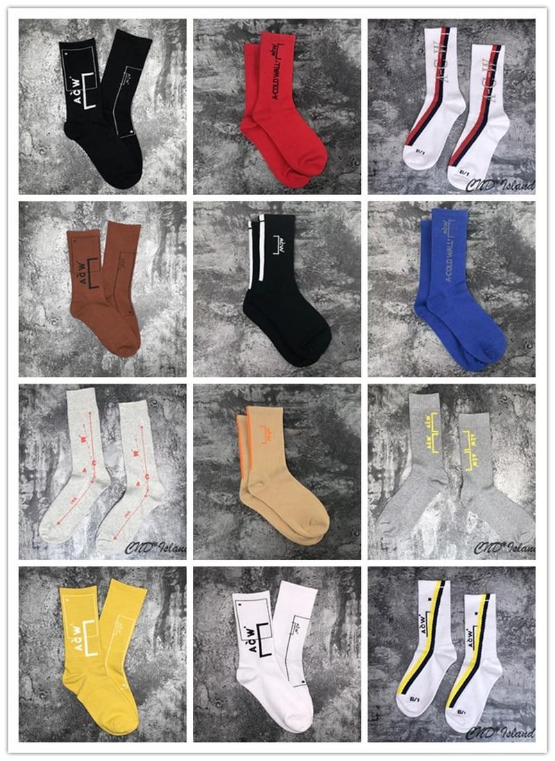 20ss A Cold Wall Socks 100% Cotton Streetwear Hip Hop Acw Socks Men Women Sports Basketball A-cold-wall Socks