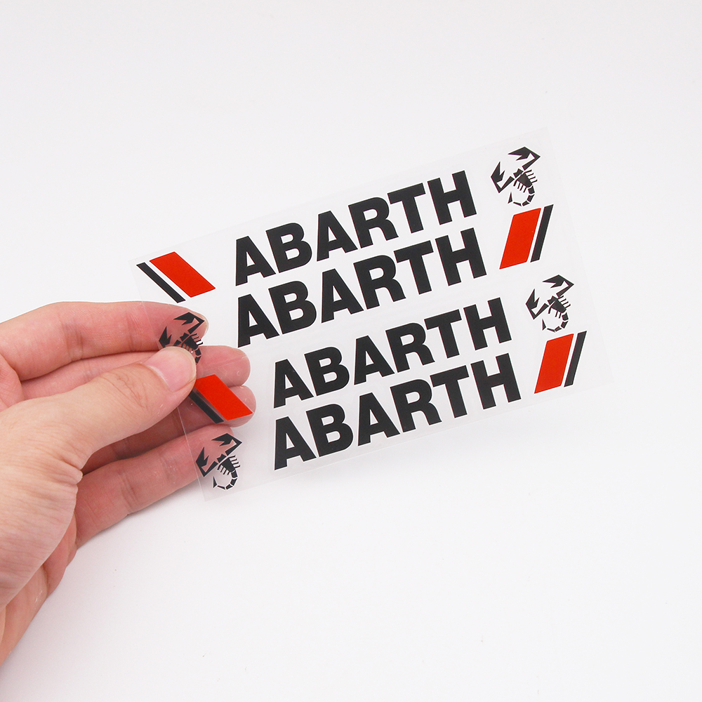 4PCS/LOT Car Styling Car Door Handle Car Stickers Abarth Scorpion Logo Decoration For Fiat Viaggio Abarth Punto 124 125 500