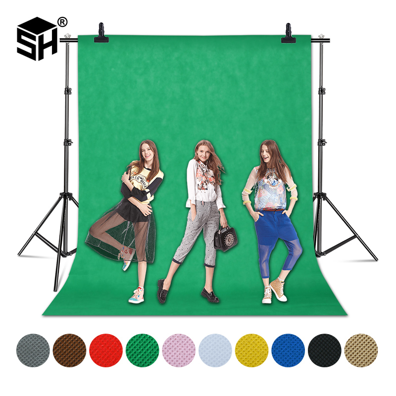 1 6X4 3 2M Green Screen Photo Background Photography Backdrops Backgrounds Studio Video Nonwoven Fabric Chromakey Backdrop Cloth