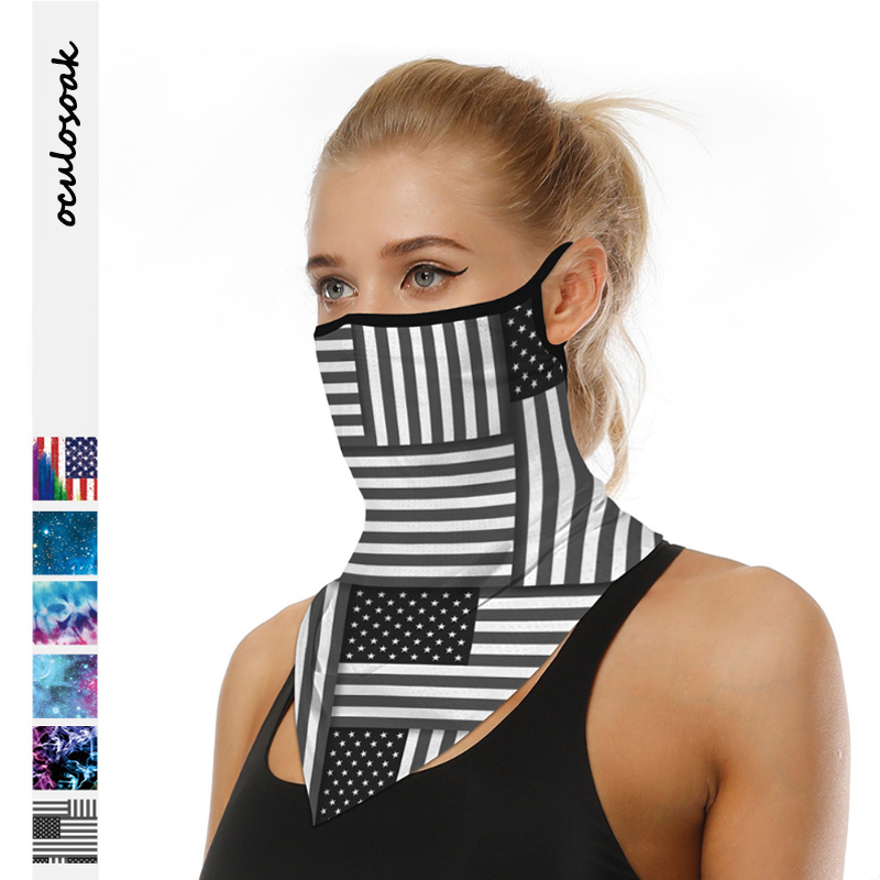 2020 Explosion Digital Printing Outdoor Riding Triangle Scarf Breathable Sunscreen Hanging Ear Multi-function Mask