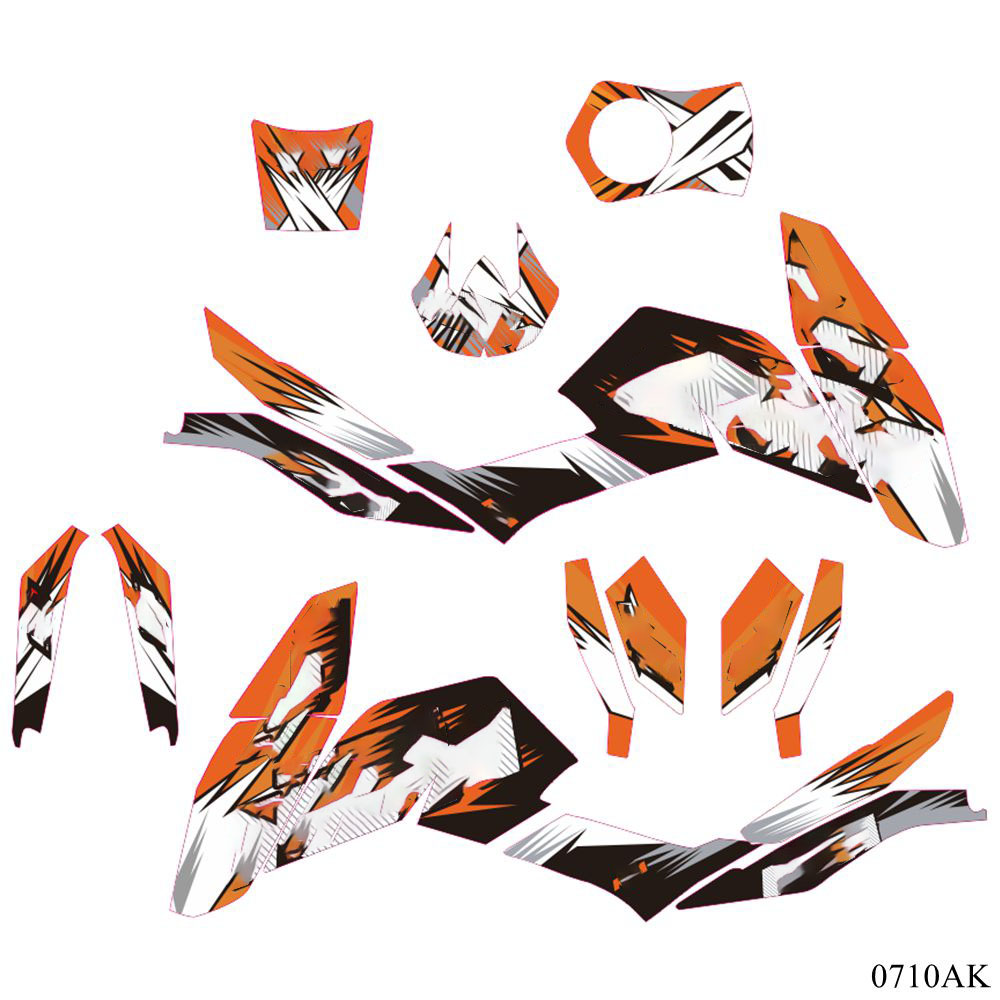 For KTM <font><b>DUKE</b></font> 125 200 390 2013-2017 Full Graphics Decals <font><b>Stickers</b></font> Custom Number Name 3M Matte <font><b>Stickers</b></font> image