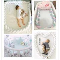 1 м 3 узел мягкая детская кровать детская кроватка с амортизатором защита подушки постельные принадлежности для младенцев хлопок Красочные ...