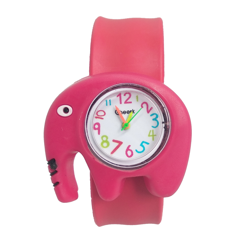 Cute Elephant Patted Children Watch Boys Girls Baby Christmas Gifts Digital Toys Watches Kids Birthday Gift Electronic Clock C7