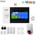 MULO Беспроводной Tuya Smart Home, Wi-Fi, GSM, просто защита сигнализации Системы для дома Бизнес SMS приложение Управление охранной сигнализации DIY Kit PG107