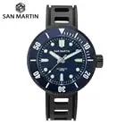San Martin Diver Damascus Steel Watch Automatic Men Mechanical Watch SW200 1000M Water Resistant Ceramic Bezel Luminous