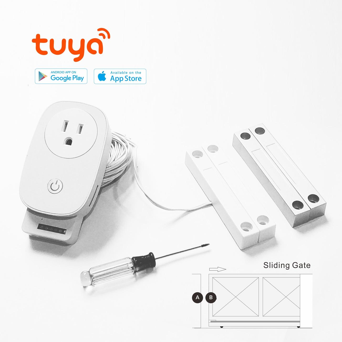 Tuya Wifi Garage Door Opener For Car Garage Door Controller App Smart Remote Control Voice Control Works With Alexa Google Ifttt Electric Door Control System Aliexpress