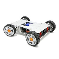 10kg/22kg Smart Car Chassis Front Wheel Steering Robot Car Swing Suspension 1:27 / 1:51 Planetary Gear Motor