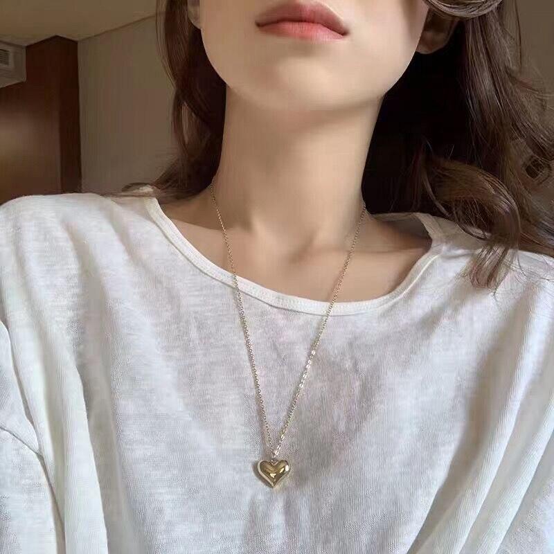 Mengjiqiao новинка модное металлическое милое сердце длинное