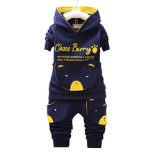 цены на Children Clothing Sets Hooded Coat And Pants 2pcs Suits Fashion Letter Baby Boy Girl Autumn Suit Toddler Cotton Sport Tracksuit  в интернет-магазинах