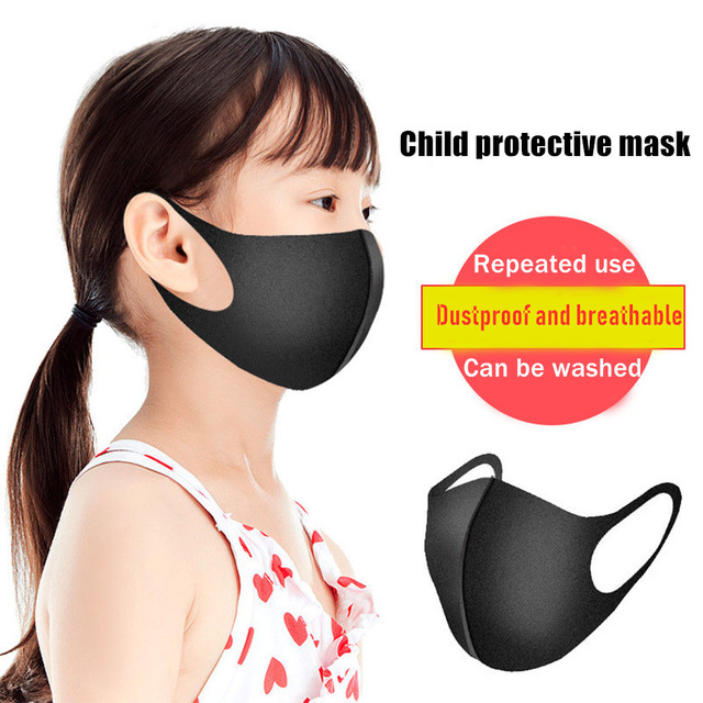 Black Mouth Mask Breathable Unisex Sponge Face Mask Reusable Anti Pollution Face Shield Wind Proof Mouth Cover 1