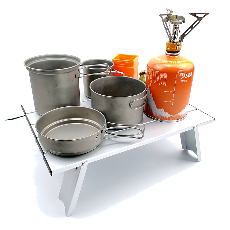 Mini Metal Portable Camping Table Lightweight Foldable Compact Small Roll Up Tables Aluminum Folding Picnic Table Desk Read