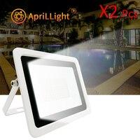 2pcs ha condotto la luce di inondazione 220V 10W 20W 30W 50W 100W ad alta luminosità IP68 illuminazione esterna impermeabile ha condotto i proiettori della parete del riflettore