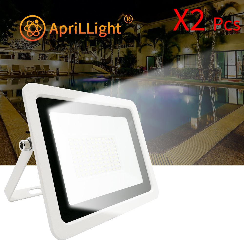 2pcs LED Floodlight 10W 20W 30W 50W 100W LED Flood Light Street Light AC 220V Waterproof IP68 Outdoor Garden Lighting Spotlight
