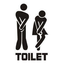 Съемный милый мужчина женщина Санузел Туалет WC Знак наклейки СЕМЬЯ DIY домашний декор