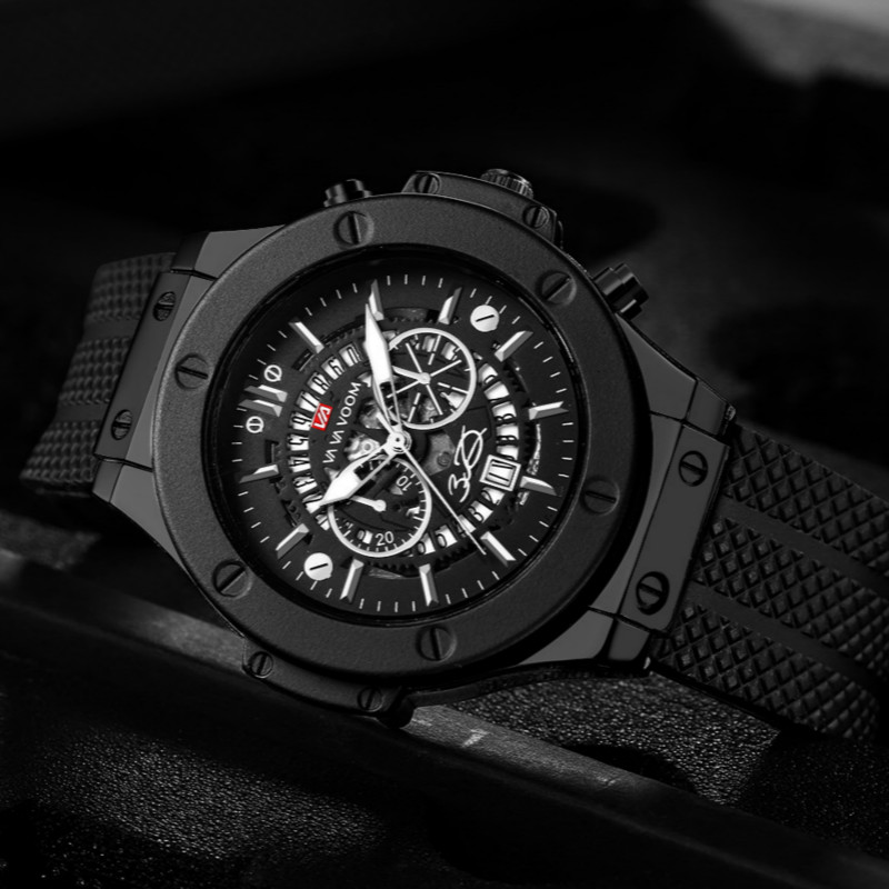 Fashion Sport Watch Men Skeleton Waterproof Quartz Military Male Watches Meskie Hublo Replica Relogio Masculino Man Hodinky 2018