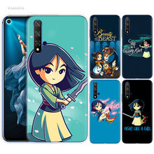 Mulan Cartoon Girl Case for Huawei Honor 9X 8X Y9 20 S 8C 9 10 Play 8A Lite Pro V20 Y7 Y6 2019 Soft Phone Coque Cover(China)