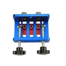 3-в-1 дюбель для деревообработки джиг комплект бурового локатор деревообрабатывающий направитель Сверла Набор инструментов Самоцентрирующийся зажимной Doweling джиг комплект