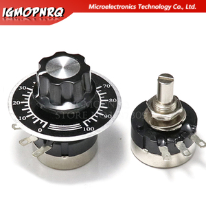 RV24YN20S KIT Single Turn Carbon Film Rotary Taper Potentiometer with A03 knob dials 1K 5K 10K 20K 50K 100K 200K 500K 1M ohm