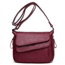 Gorące nowe torby Crossbody dla kobiet klapy luksusowe torebki torby projektant skóra Vintage kobiet torba damska torby na ramię