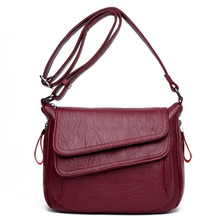 Hot New Crossbody Bags For Women Flaps Luxury Handbags Bags Designer Leather Vintage Female Messenger Bag Ladies Shoulder Bags