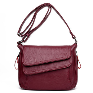 Image 1 - Hot New Crossbody Bags For Women Flaps Luxury Handbags Bags Designer Leather Vintage Female Messenger Bag Ladies Shoulder Bags