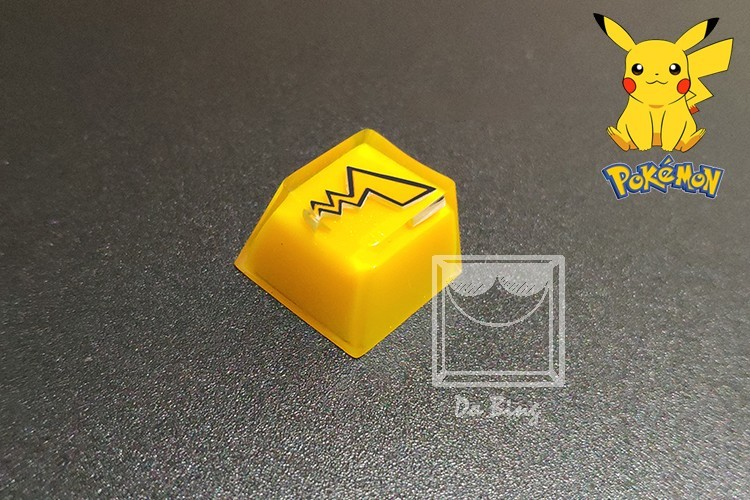 1pc Handmade Customized Resin Key Cap For MX Switches Mechanical Keyboard Backlit Resin Keycap For Pikachu Squirtle