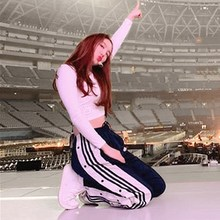 kpop TWICE Lim Na Yeon Cotton long Sleeved T shirts O-neck Tees Tops+loose casua