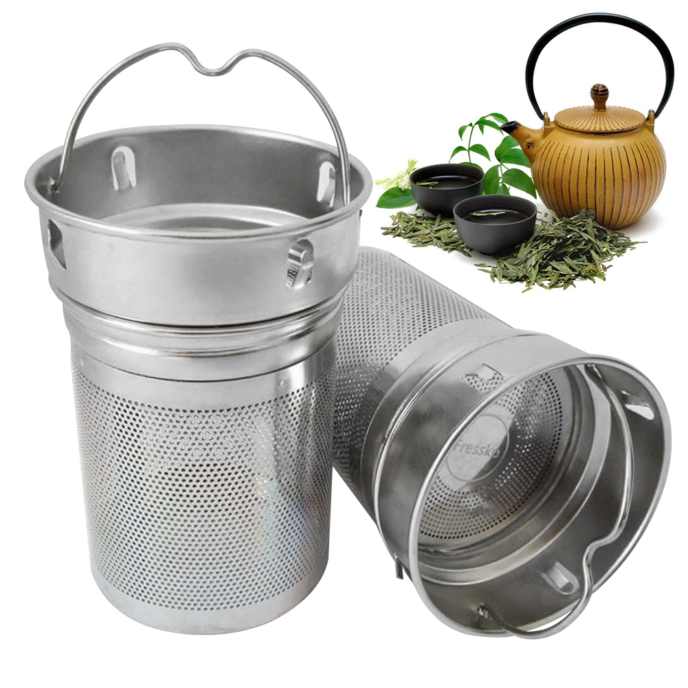 Drinking Office Tea Infusers Two Mesh Spice Hiking Portable Filter Bottle Non-rust Tea Strainer Cup Laser Hole Stainless Steel