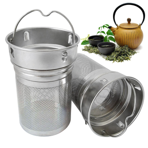 Drinking Office Tea Infusers Two Mesh Spice Hiking Portable Filter Bottle Non-rust Tea Strainer Cup Laser Hole Stainless Steel(China)