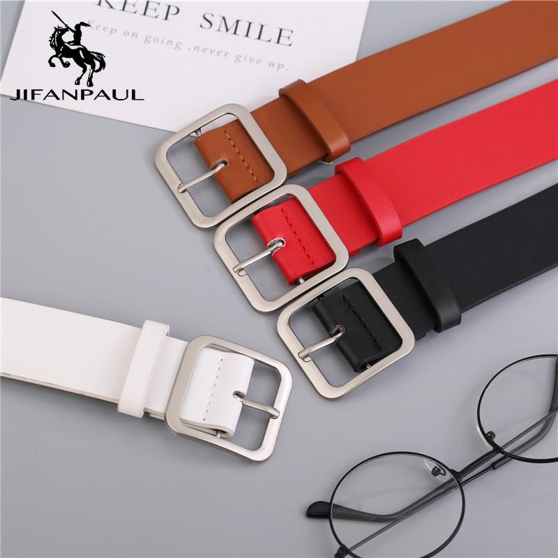 JIFANPAUL Women Belt Best Selling Fashion Designer Design Of Genuine Leather Luxury Brand Buckle Student With Fashion Jeans