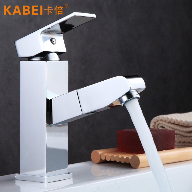 Sanitary Ware Single Bore Copper Hot And Cold Mixing Valve Face Basin Faucet Stage Installation High Standard Electroplated