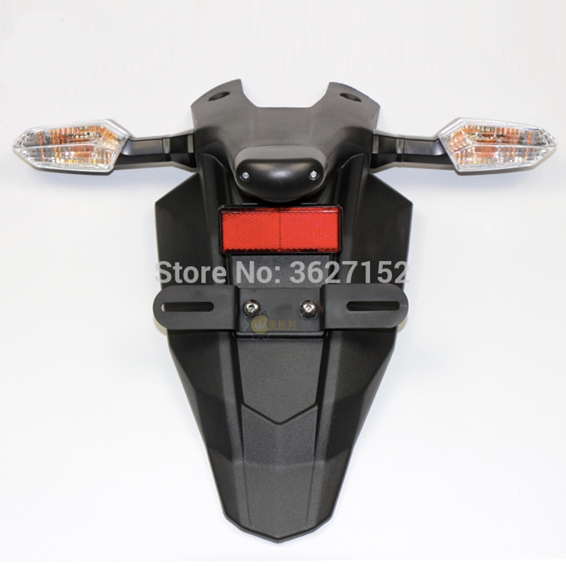 Mudguard Rear Fender Turn Signal Taillight License Plate Holder Set For Kawasaki Z800 13-16 Ninja 650R ER6F ER6N 06-16