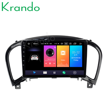 Krando Android 9.0 9 IPS touch car radio navigation player GPS for Infiniti ESQ Nissan Juke 2011-2018 system No 2din DVD image