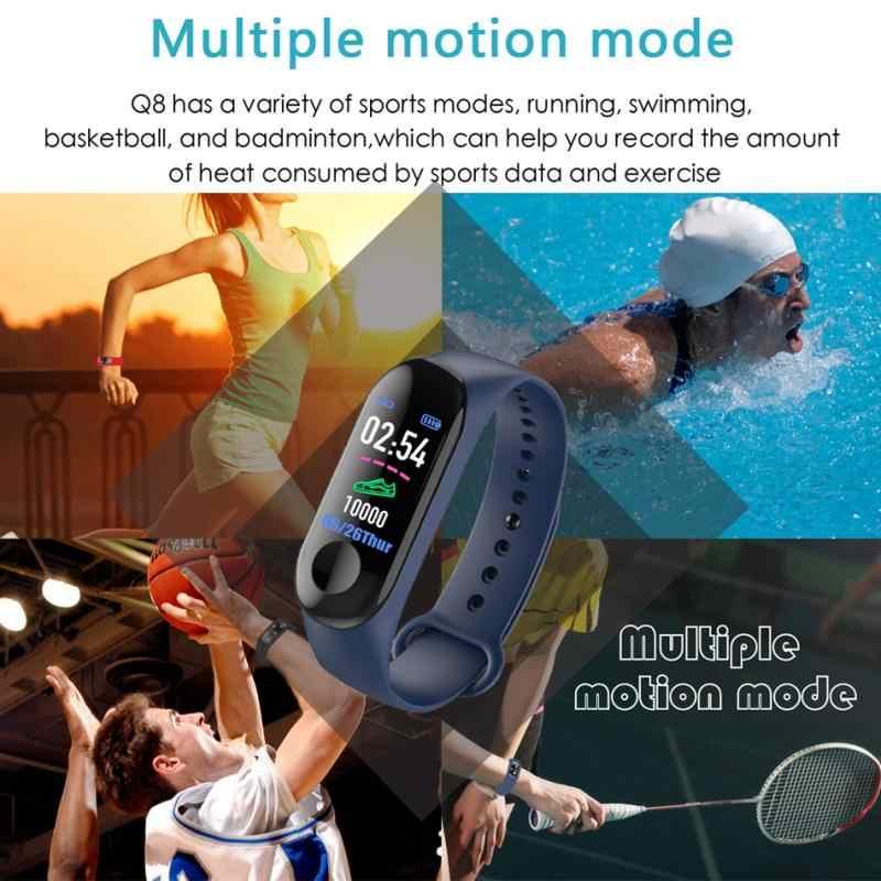 最新 M3 スマートブレスレットカラータッチスクリーンフィットネストラッカー血圧心拍数モニタースマートバンド