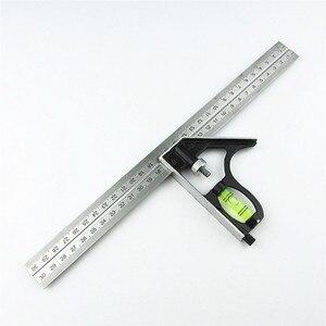 "Image 1 - DIY Präzise Edelstahl Mess Werkzeuge Aluminium Kombination Mobile Platz Werkstatt Hardware Winkel Wasserwaage 12 ""(300mm)"