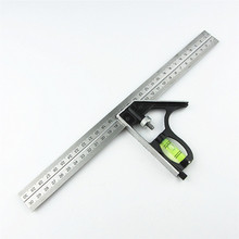 "DIY Precise Stainless Steel Measuring Tools Aluminium Combination Mobile Square Workshop Hardware Angle Spirit Level 12""(300mm)"
