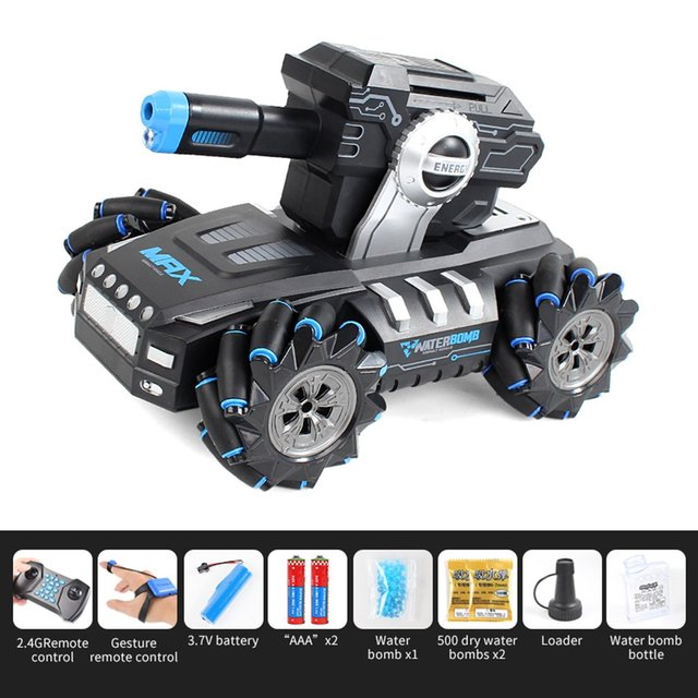 UK2075 1:16 Simulation RC Military Tank Launch Water Bomb Armor Interactive Battle 2 4g Watch Drift Remote Control Car Toy