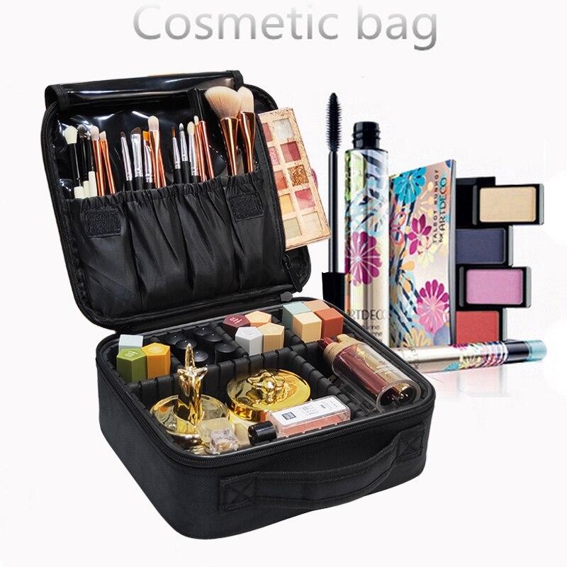 Caso cosmético profissional feminino beleza escova maquiagem saco viagem necessário saco cosmético impermeável