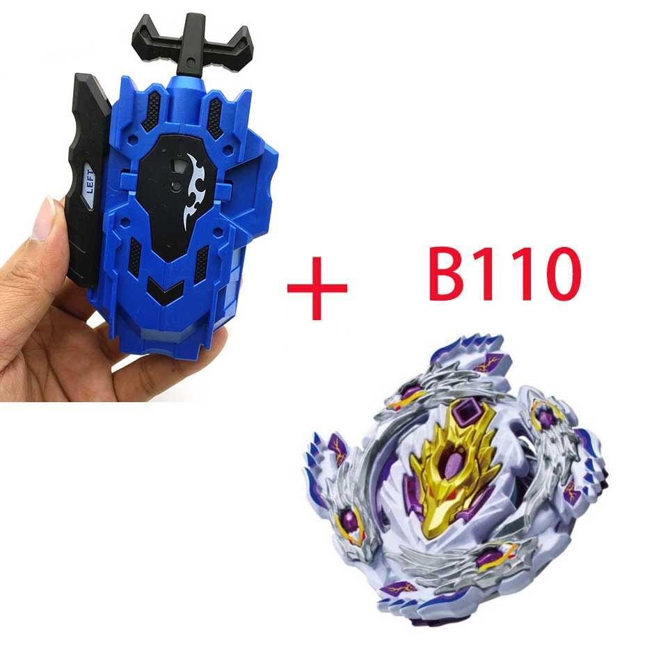 Волчок Beyblade BURST B-130 B-117 с пусковым устройством Bayblade Bay blade металл пластик Fusion 4D Подарочные игрушки для детей - Цвет: B110