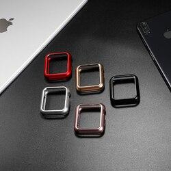 Magnetische Case Cover Voor Apple Watch Case Apple Watch 5 4 3 44 Mm/40 Mm Iwatch Band 5 42 Mm/38 Mm Screen Protector Beschermende Glas