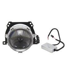 2 PCS RHD LHD 2.5 Inch Bi LED Projector Car Lens Headlights for Motorcycle Angel Eye for e46 bmw x3 e83 e60 led, for prior 2170 цена 2017