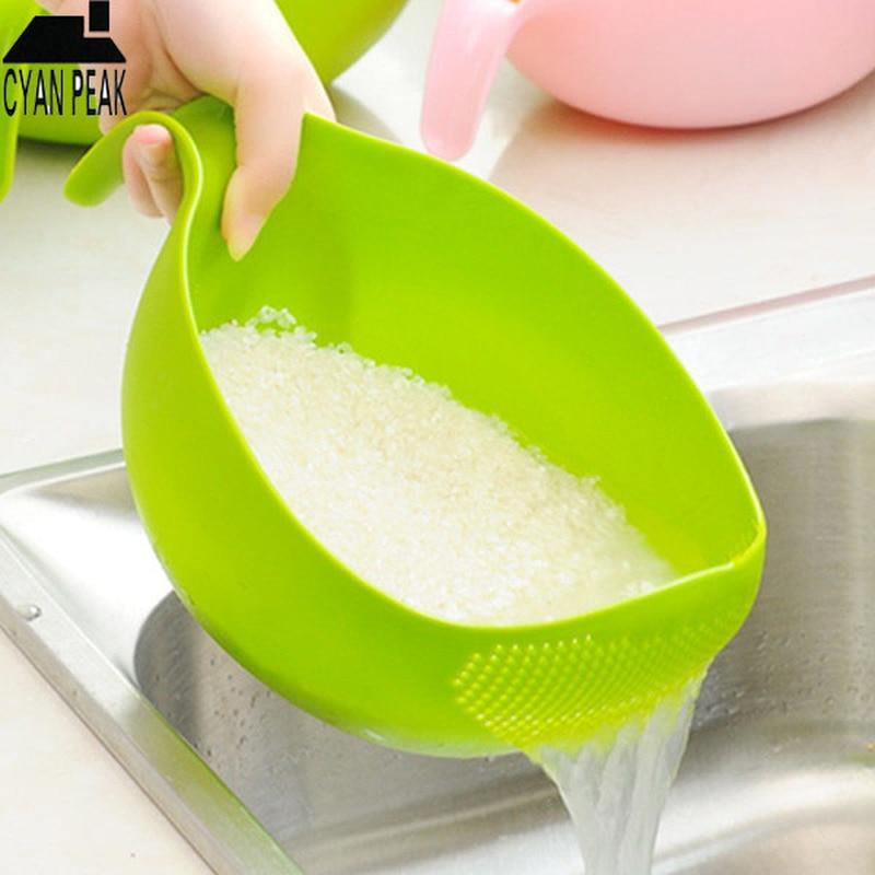 Plastic Kitchen Fruit Vegetable Drain Basket Basin Wash Filter Colander Tool