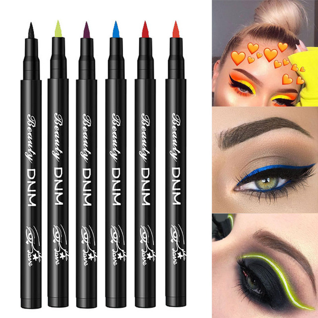 Eye Makeup Waterproof Neon Colorful Liquid Eyeliner Pen Make Up Cosmetics Long-lasting Black Eye Liner Pencil Makeup Tools