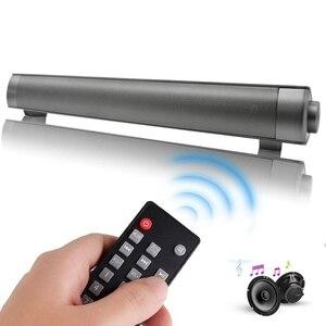 Image 1 - 10 ワットbluetoothスピーカーサウンドバーワイヤレスサブウーファーサウンドバー受信機ステレオ超低音スピーカーiphoneテレビ電話
