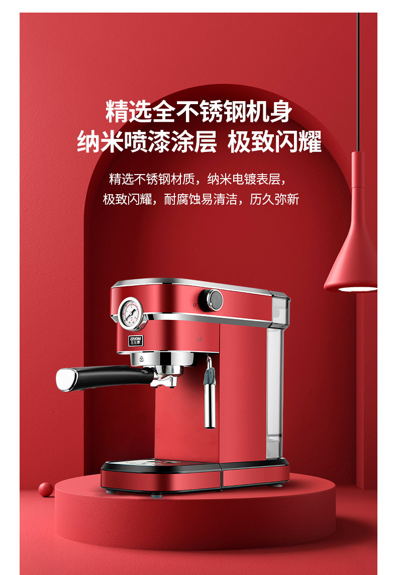 Hbb420f5b46fb4e86b9303c9005fea8fbC - 2020 Neue 15Bar Espresso Machine Stainless Steel Body Memory Function Home Use Fully Automatic Milk Frother Kitchen Appliances